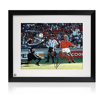 Dennis Bergkamp Signed Holland Photo: The Argentina Goal. Framed