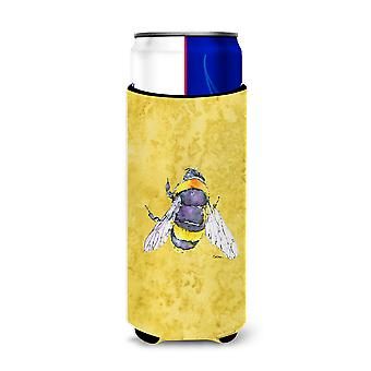 Bee on Yellow Ultra Beverage Insulators for slim cans 8852MUK