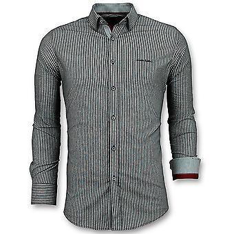 Business Shirts - Dashes - Grey