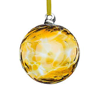 Sienna Glass 10cm Birthstone Ball, November Topaz