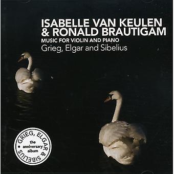 Keilen/Brautigam - Grieg, Elgar, Sibelius: Music for Violin & Piano [CD] USA import