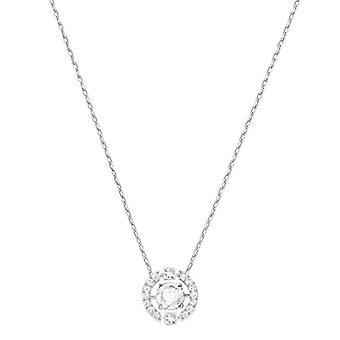 Swarovski Necklace Sparkling Dance Round - white - rhodio plating