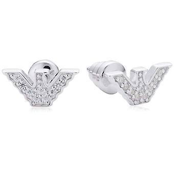 Emporio Armani - Pin Earrings - Silver Sterling 925 - Woman