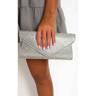 IKRUSH Womens Cece Diamante Clutch Bag