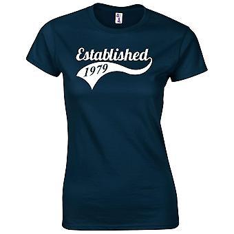 40 års fødselsdag gaver til kvinder hendes etablerede 1979 T-shirt