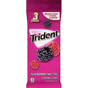 Trident Black Raspberry Twist Gum (3-Pack), 14-Sticks pro Packung