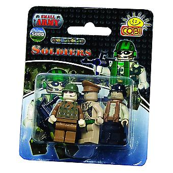 Small Army 3 Piece Army Men Figure Set Construction Set