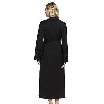 Rösch 1193599-10995 Women's New Romance Black Cotton Robe