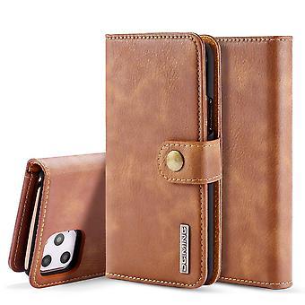 Dg. MING iPhone 11 Pro Max Split Leather wallet Case-brown