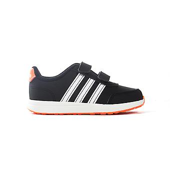 adidas VS Switch 2 Infant Kids Sports Trainer Shoe Black/Orange