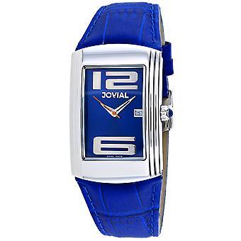 Jovial Men's Classic Blue Dial Watch - 08004-GSL-03