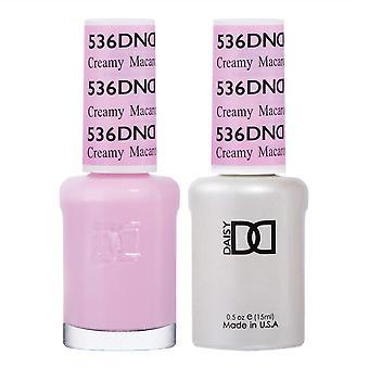 DND Duo Gel & Nail Polish Set - Cream Macaroon 536 - 2x15ml