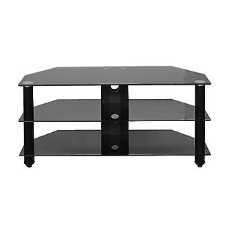 Bromley Tv Stand Black Glass/black