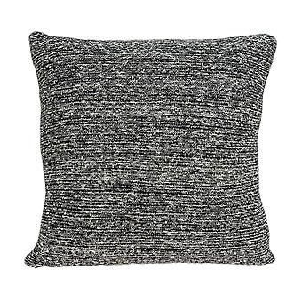 Square Gray Black Weave Accent Pillow Cover