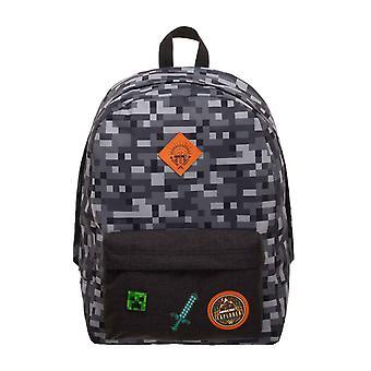 Minecraft zaino Bag Explorer blocchi logo nuovo ufficiale del giocatore Camo