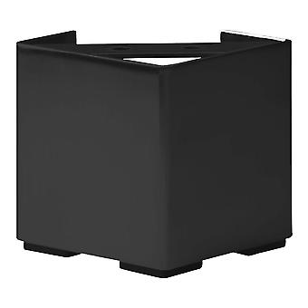 Svart firkanter stål møbler ben høyde 10 cm (1 stykke)