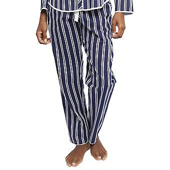 Cyberjammies 4375 kvinder ' s Lyng mørkeblå Sateen stribe bomuld pyjamas bukser