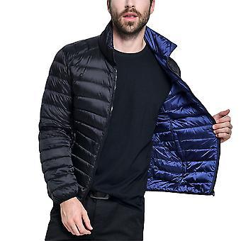 Allthemen miesten ' s ohut lämmin alas pehmustettu takki molemmin puolin pukeutuva