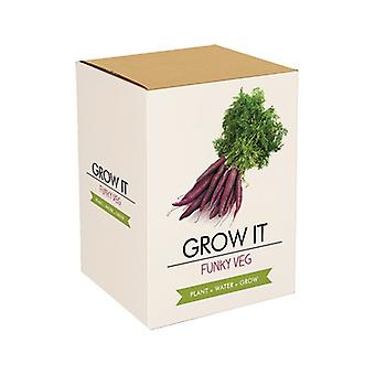 Grow it funky veg crazy vegetable cultivation set gift