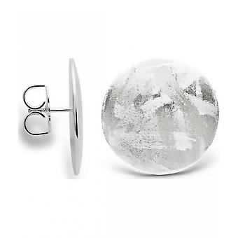bastian inverun - 925/- silver stud earrings, matted/brushed - 24370