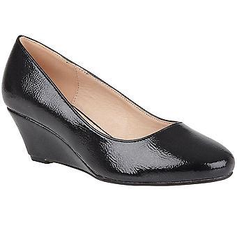 Lotus Rose Wedge Heel Court Shoes