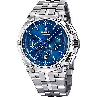 Festina Chrono Bike F20327-3-Uhr - Armbanduhr Chronograph stahlblauen Mann