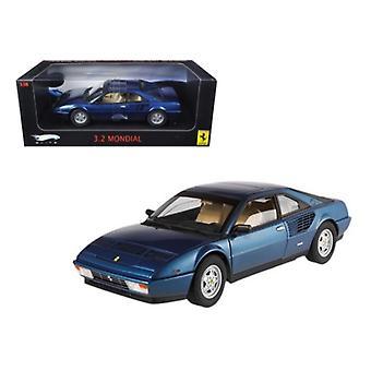 Ferrari Mondial 3.2 Elite Edition Azul 1 de 5000 Producido 1/18 Diecast Car Modelo Por Hotwheels
