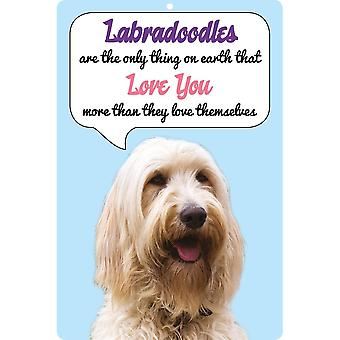 Faithful Friends Collectables 3d Dog Loves You Hang Up Labradoodle