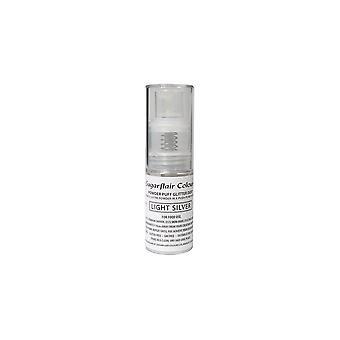 Sugarflair puder puff glitter Dust spray-ljus silver 10g