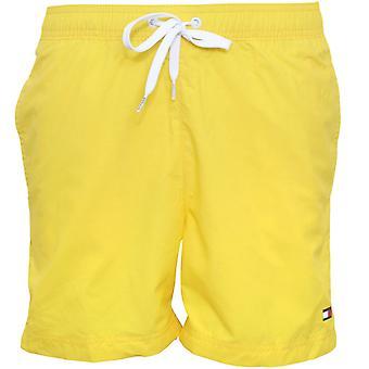 Tommy Hilfiger Classic Logo Slim-Fit Swim Shorts, Bold Yellow