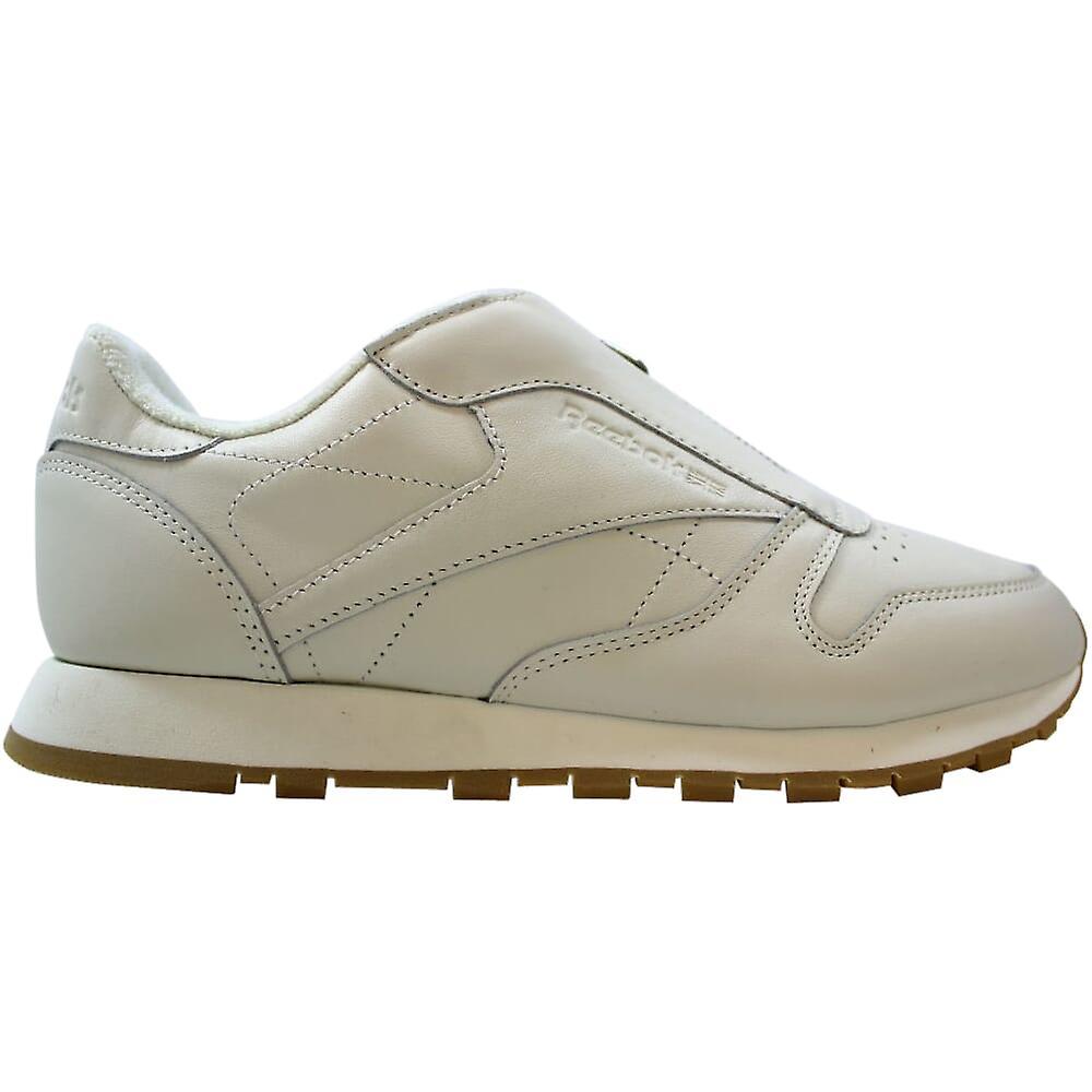 Reebok CL Leather Zip Chalk/Sandstone-Silver BS8063 Women's JVfrE