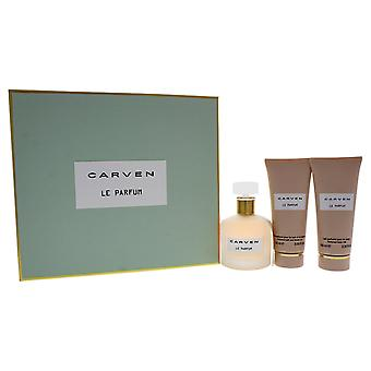 Carven Le Parfum Gift Set 100ml EDP + 100ml Body Milk + 100ml Shower Gel