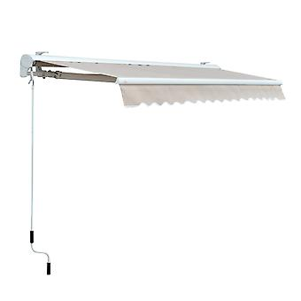 Outsunny Electric Garden Door Awning Outdoor Retractable Canopy Patio Shelter w/Remote Controller (2.95 x 2.5m)