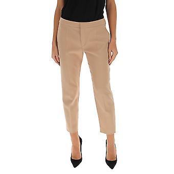 Chloé Chc20spa93064275 Women's Beige Wool Pants