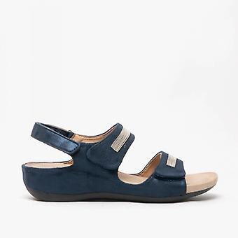 Boulevard Mary Ladies Touch Fasten Sandals Navy Blue