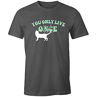 Boys Crew Neck Tee Short Sleeve Men's T Shirt- You Only Live Once