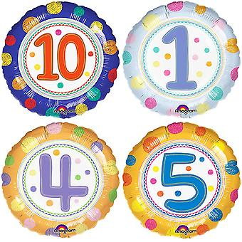 Anagram 18 Inch SpotOn Age Circle Foil Balloon