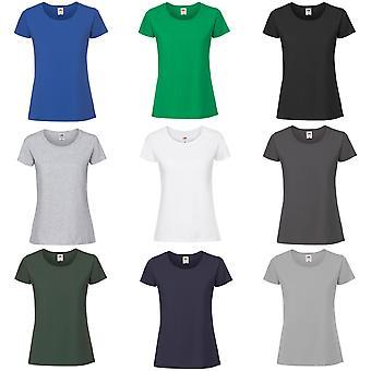 Frukten av vävstol Womens/damer ringspunnen Premium T-Shirt