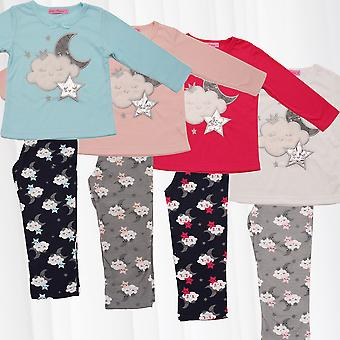 girl pyjama cloud pants sweater longsleeve combi pajamas two-piece child