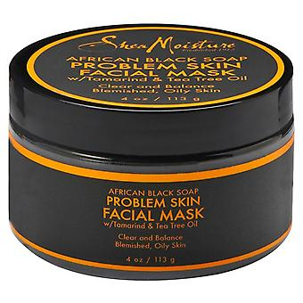 Sheamoisture african black soap problem skin facial mask, 4 oz