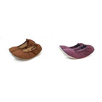 Eastern Counties Leather Womens/Ladies Sheepskin Lined Ballerina Slippers