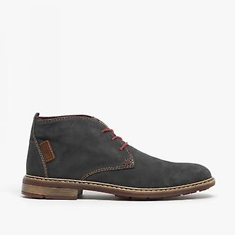 Rieker F1210-45 Mens Lace Ankle Boots Mare/wine