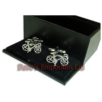 Racing Bike Cufflinks - Gift Boxed - Cyclist Cycle Bicycle Gift Cuff Link