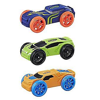 Nerf Nitro Foam Car 3-Pack (Blue, Green, Orange)