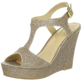 Rampage Womens Candelas Fabric Peep Toe Special Occasion Ankle Strap Sandals