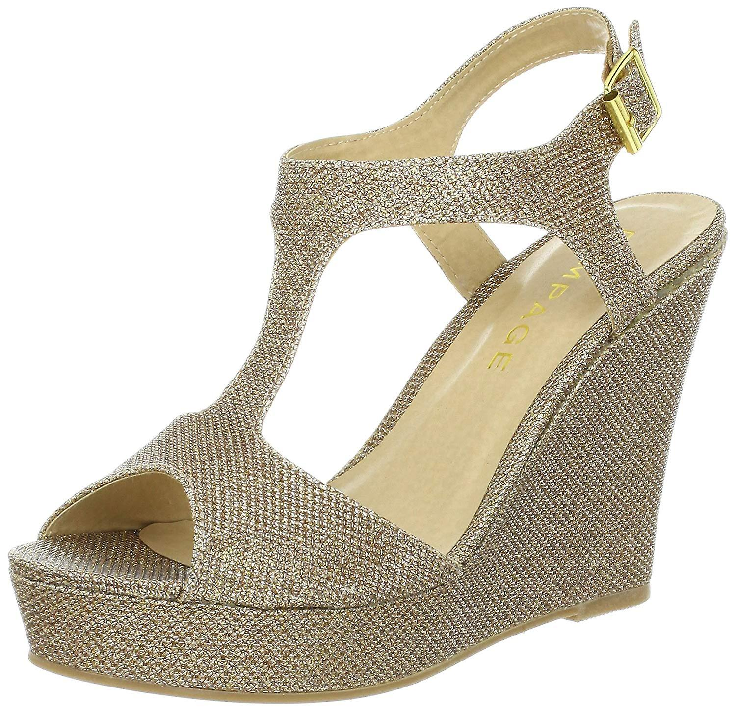 Rampage Womens Candelas Fabric Peep Toe Special Occasion Ankle Strap Sandals v6ubm