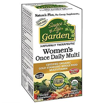 Nature's Plus Source of Life Garden Organic Womens Daily Tabs 30 (30747)