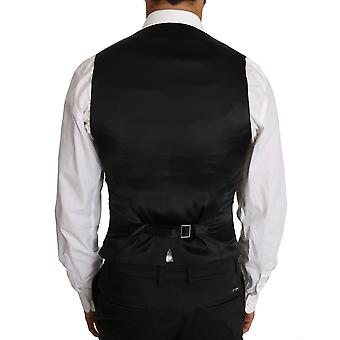 Dolce & Gabbana Gray Wool Double Breasted Waistcoat Vest -- TSH2613936