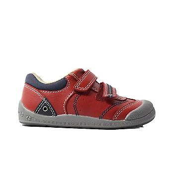 Startrite Tough Bug Red Leather Boys Rip Tape Casual Shoes