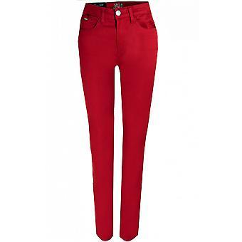 Franse Dressing Jeans Olivia Slim Been - Rood